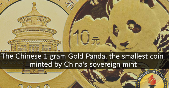 1 Gram Gold Chinese Panda Coins from Money Metals Exchange