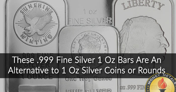 1 Ounce Silver Bars from Money Metals Exchange
