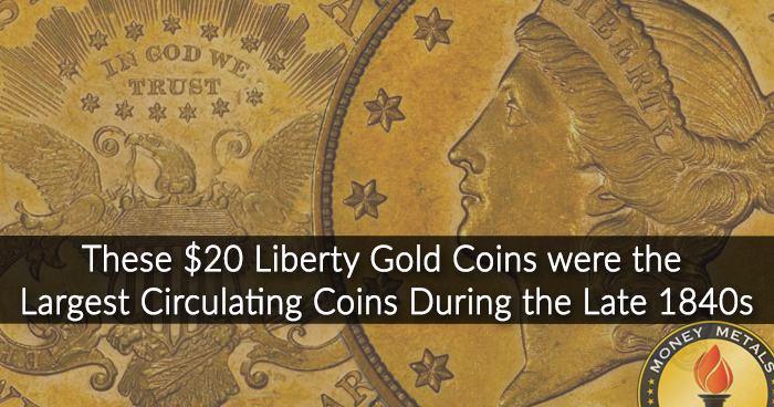 U.S. Liberty $20 Gold Coins from Money Metals Exchange