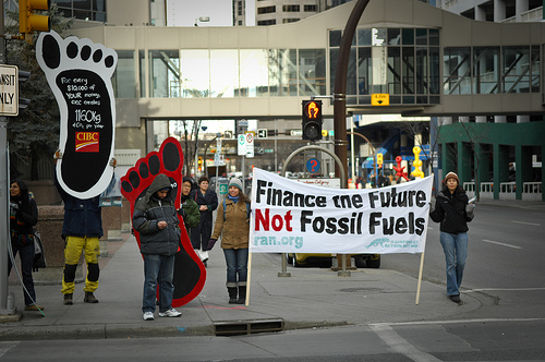 climate change protest photo