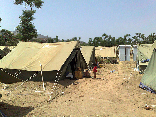 refugee camp photo