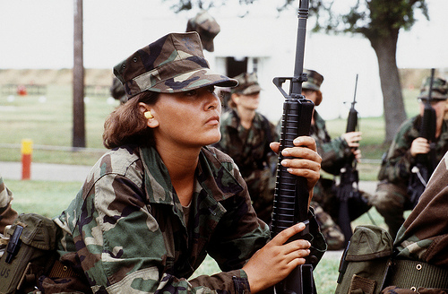 Woman soldier photo