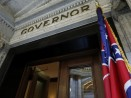Mississippi state flag outside governor's office