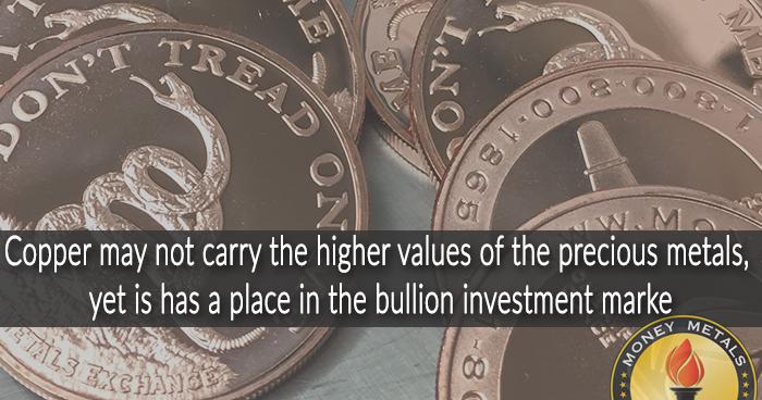 Copper Bullion from Money Metals Exchange