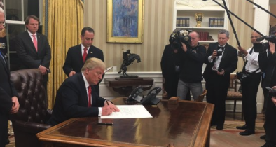 Trump Cites Stock Pond While Signing Waters of the U.S. Order