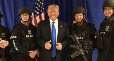 Trump Signals Change in Tone for Police From Obama