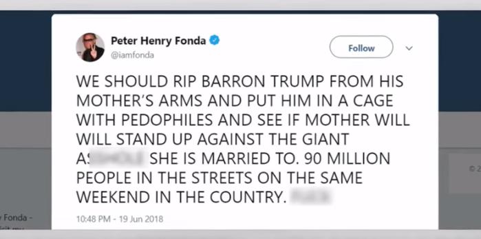Actor Peter Fonda: Put Baron Trump Him in Cage With Pedophiles