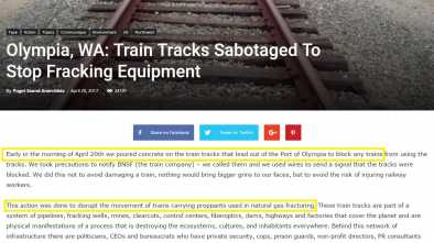 Antifa Bragged in April about Sabotaging Railroad Tracks