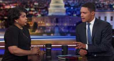 April Ryan and Trevor Noah