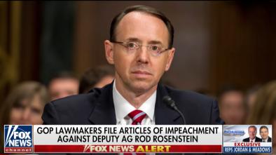 Articles of Impeachment Introduced Against Dep AG Rod Rosenstein