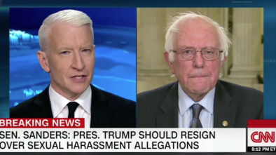 Bernie Sanders Calls on Trump to Resign