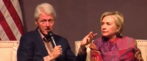 Bill and Hillary Clinton Kickstart Speaking Tour to Empty Audience
