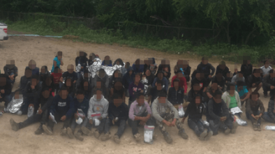 Border PatrolL 'Large Groups' of Migrants Crossing into Texas