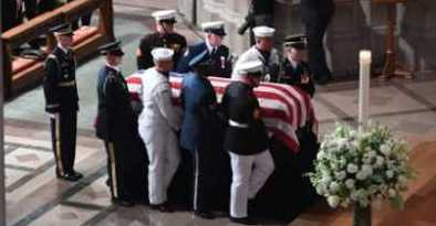 Bush, Obama Come Together to Eulogize McCain and Attack Trump