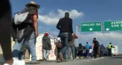Caravan Migrants Demand Entry into America, an End to Deportation, and Reparations
