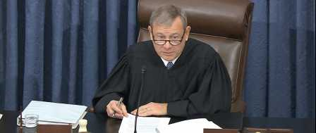 Chief Justice Roberts Admonishes House Prosecution, White House Defense