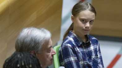 Children Lecture Adults at the United States about Fighting Climate Change