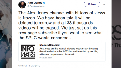 CNN Pushes YouTube to Ban Alex Jones, Delete Video Channel