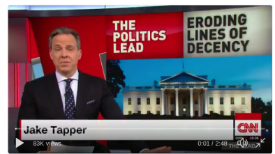 CNN's Jake Tapper: Trump Continues Eroding 'Basic Lines of Human Decency'