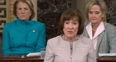 Collins' Reasoned Remarks on Senate Floor Contrast with Emotionally Charged