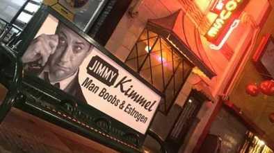 Conservative Street Artist Mocks Jimmy Kimmel
