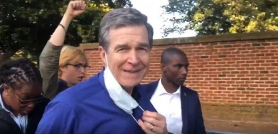 COVID-Obsessed NC Gov. Marches w/ Floyd Protesters After Blasting 'Reopen' Demonstrators