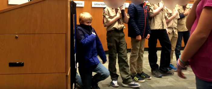 Cub Scout Kneels During Pledge of Allegiance to Protest 'Racial Discrimination'