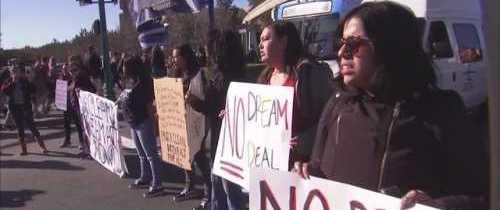DACA Protesters Block Disneyland Entrance