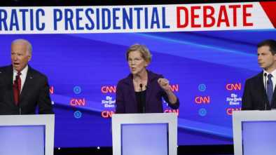 Debate Rivals Assail Warren, the Clear Democrat Frontrunner