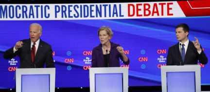 Debate Rivals Assail Warren, the Clear Democrat Frontrunner