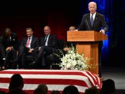 Dem Biden Eulogizes Friend John McCain as 'Giant among All of Us'