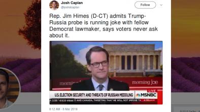 Dem Rep: Trump-Russia Probe Is 'Running Joke' between Democrats
