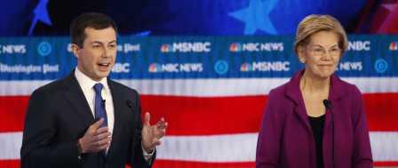 Democrats Spar at Debate Over How to Beat Trump