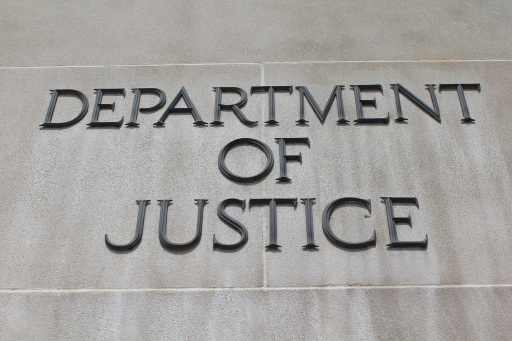Department of Justice sign photo