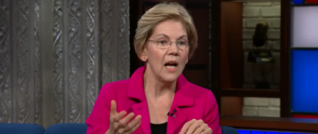 Elizabeth Warren Lost for Words When Stephen Colbert Asks about Middle-Class Tax Hike