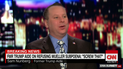 Ex-Trump Aide Nunberg Is Making Wild Claims