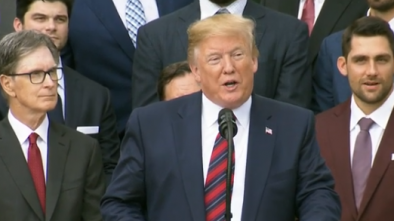 Former Biden Aide Claims Trump 'Happy' Black, Latino Red Sox Players Skipped Event
