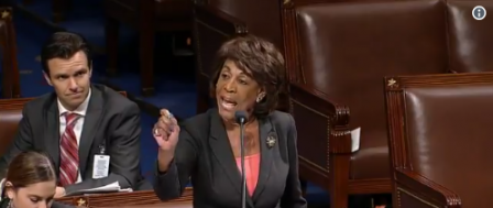 Furious Maxine Waters Resents Making 'America Great Again'