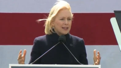Gillibrand Rips Into Trump at Her First 2020 Campaign Rally; Calls Him a 'Coward'