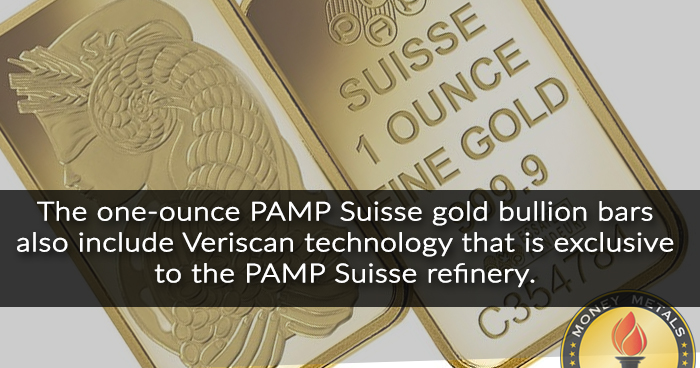PAMP Suisse 1 Oz Gold Bar from Money Metals Exchange