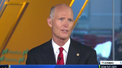 Gov. Rick Scott Schools CNBC Host about New Yorkers Fleeing to Florida