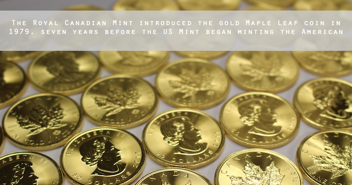 You can build your own personal stash of Canadian Gold Maple Leaf coins through Money Metals Exchange