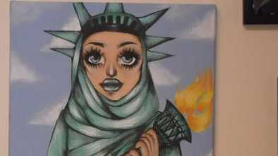 Group Condemns Hijab-Clad Statue of Liberty Painting