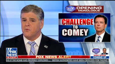 Hannity Offers Comey Hour of TV, 3 Hours of Radio to Answer Questions