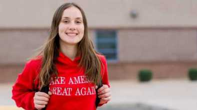 High School Girl Suspended for Wearing MAGA Sweatshirt Returns to Class