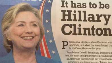 Hillary Clinton Wants To Be Buried With All The Newspapers That Endorsed Her