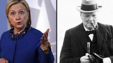 Hillary Won't Go Away, Says She's Like Churchill