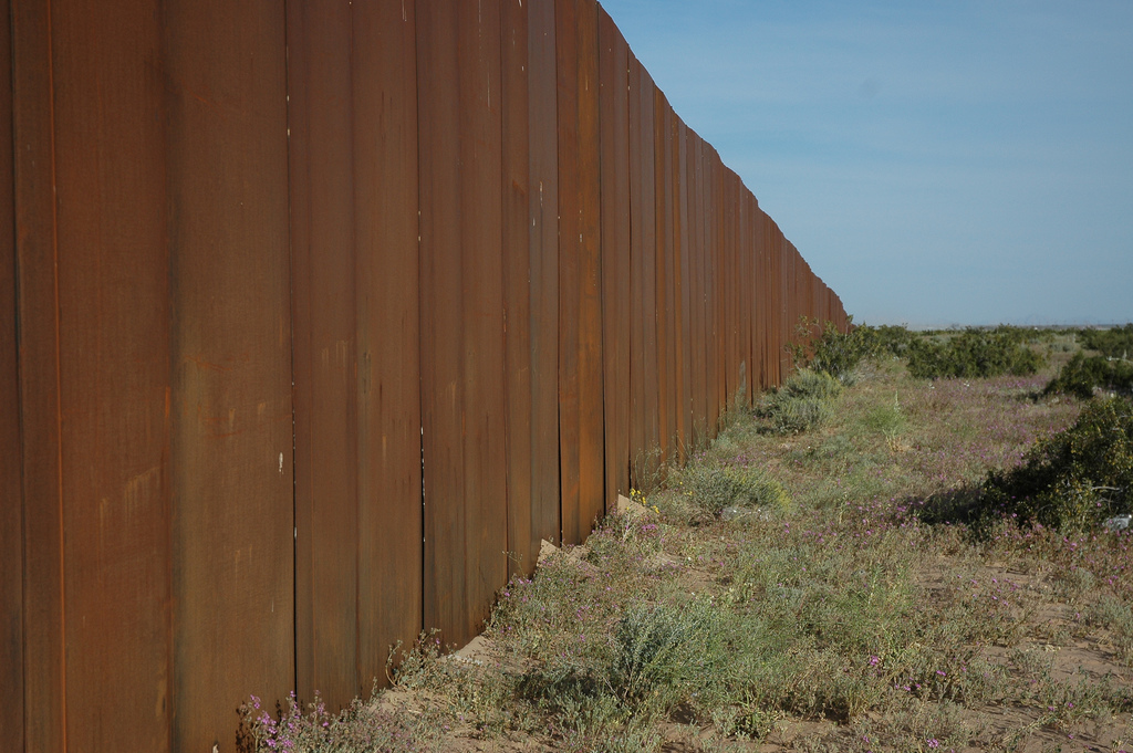 border wall Mexico photo