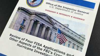 IG REPORT: FBI's Trump Probe Was Justified for Perceived Nat'l Security Threat