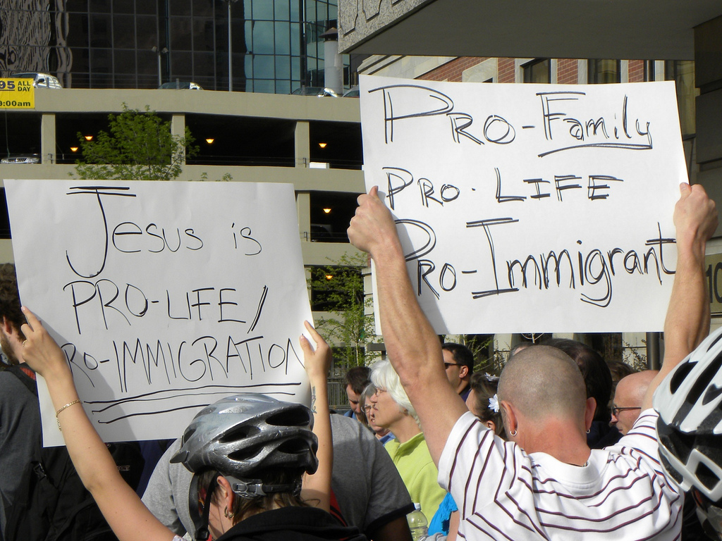 Illegal alien protest photo